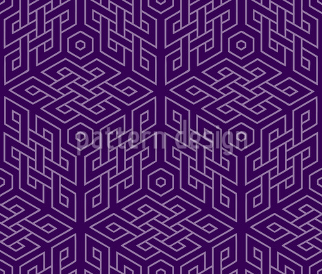 In The Cube Maze Seamless Pattern