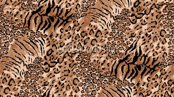 Wildkatzen Rapportiertes Design
