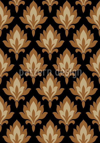 Folklore Damask Seamless Vector Pattern Design