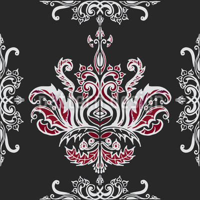 Tribal Damask Repeating Pattern
