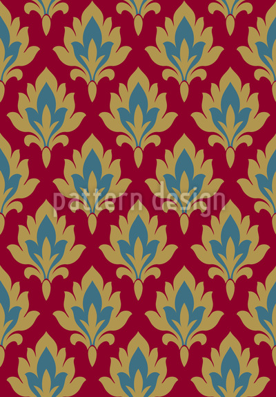 Damas royal Motif Vectoriel Sans Couture