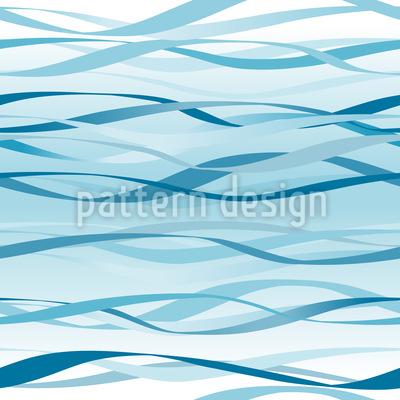 Blaue Wellen Nahtloses Vektormuster