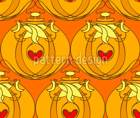 Art Nouveau Flacon Repeat Pattern