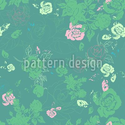 Im Rosen Beet Designmuster