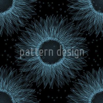 Sonnenblume In Der Tiefe Nahtloses Vektor Muster