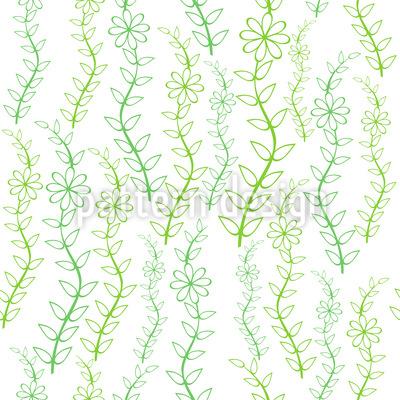 Belly Dance Flowers Pattern Design