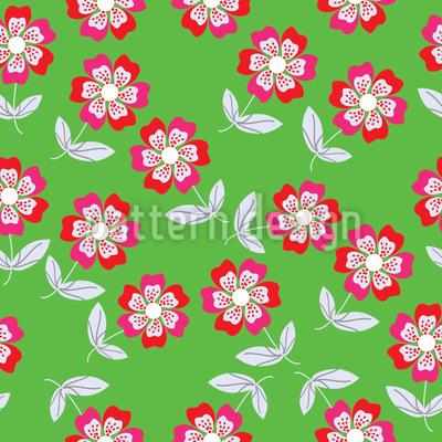 Sommer Blumen Bringen Freude Nahtloses Vektormuster