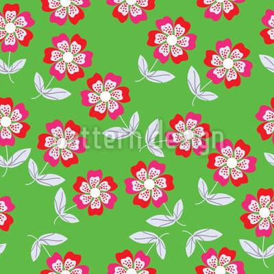 Summer Flowers Bring Joy Seamless Vector Pattern Design