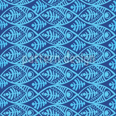 Maori Fische Nahtloses Vektormuster