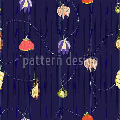 Night Of The Flower Lanterns Pattern Design