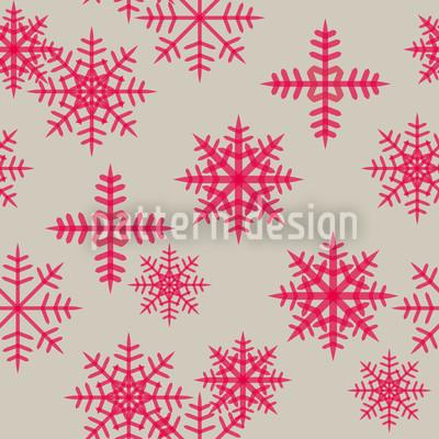 Eiskristalle Pink Designmuster