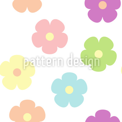 Cute Floret Vector Pattern