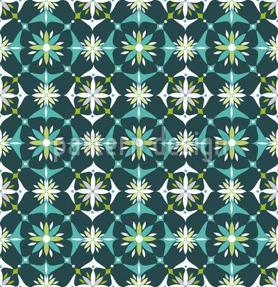Blumen Mosaik Im Frühling Nahtloses Vektormuster