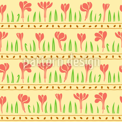 Rows Of Plants Seamless Vector Pattern Design