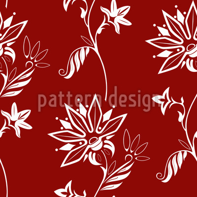 Folklore Flowers Pattern Design