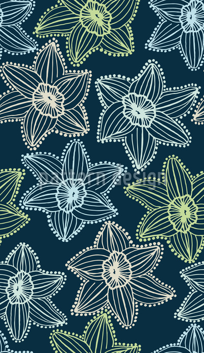 Blumen Transparenz Nahtloses Vektor Muster