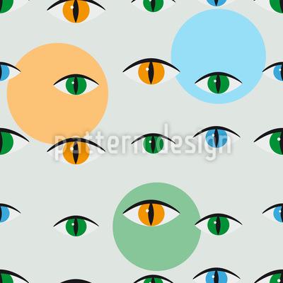 Katzen Blick Vektor Muster