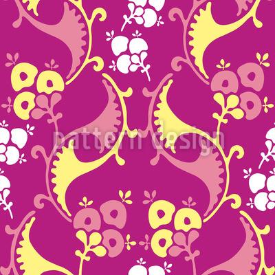 Wenn Die Knospen Blühen Nahtloses Muster