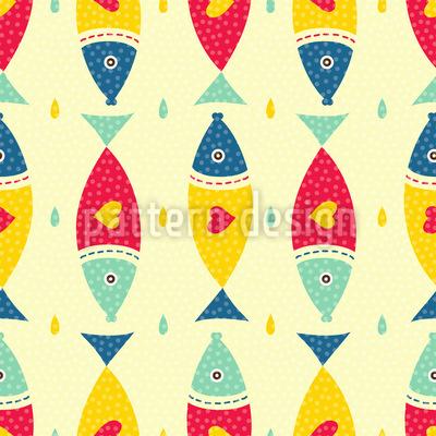 Fische Mit Herz Muster Design