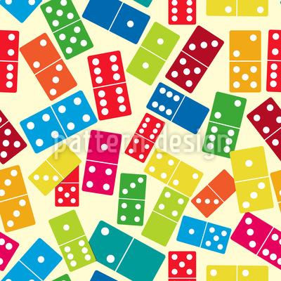Wir Spielen Domino Nahtloses Vektor Muster