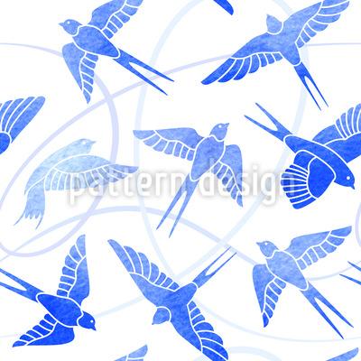Schwalben Flug Nahtloses Muster