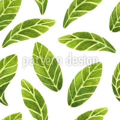 Aquarell Blätter Nahtloses Vektormuster