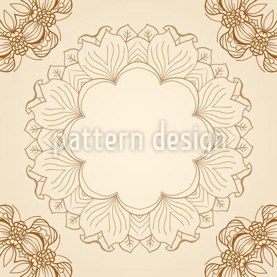 Florale Nostalgie Nahtloses Muster
