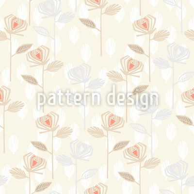 Rose Garden Of The Fifties Vector Pattern