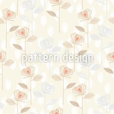 Rosen Garten Der Fünfziger Vektor Muster
