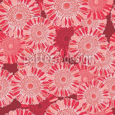 Sonnenblumen Rot Nahtloses Vektormuster