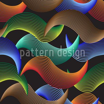 Wellen Illusion Vektor Ornament