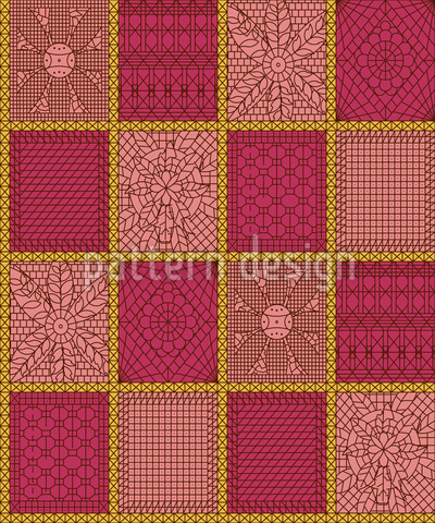 Patchwork de ganchillo Estampado Vectorial Sin Costura