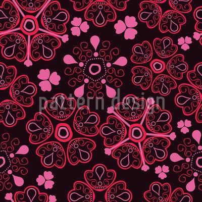 Blumen Liebe Muster Design