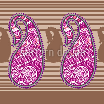 Orientalisches Paisley Vektor Ornament
