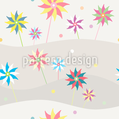 Wind Wheels On Vacation Pattern Design