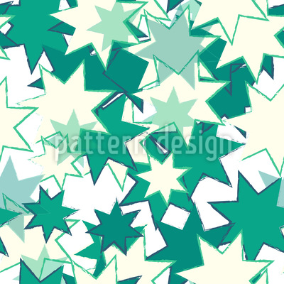 Wild Retro Stars Repeating Pattern