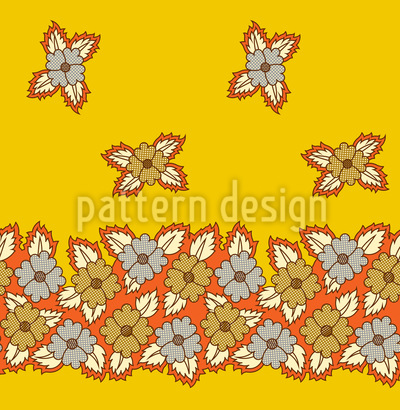 Floral Bed Design Pattern