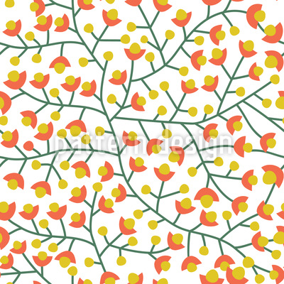 Nordische Sommer Blüte Vektor Ornament