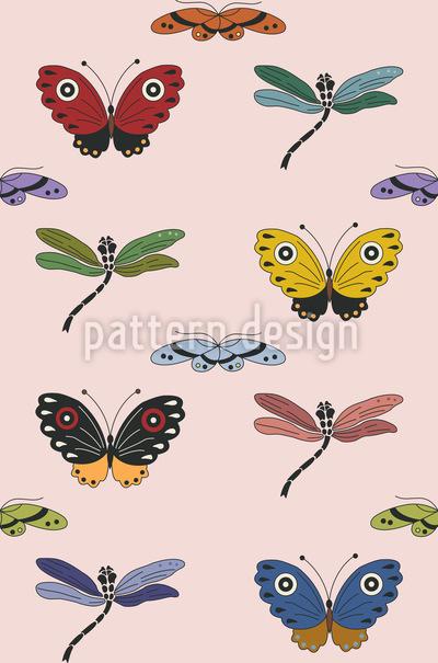 Schmetterlings Zauber Nahtloses Muster