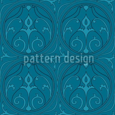 Loretto Petrol Seamless Pattern
