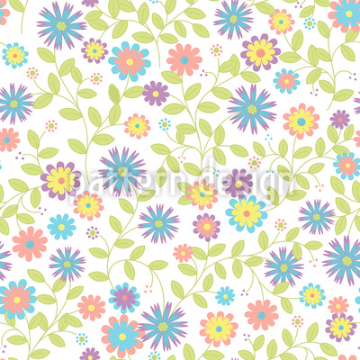 Floral Morning Song Design Pattern
