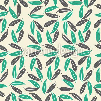 Tropische Blätter Vektor Ornament