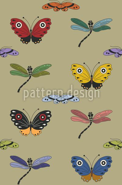 Libellen Zauber Designmuster