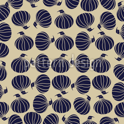 Onion Stock Seamless Vector Pattern Design
