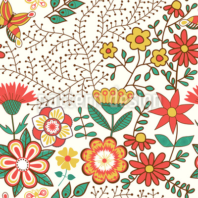 Flower Garden Pattern Design