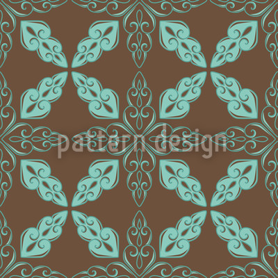 Moroccan Mint Repeating Pattern