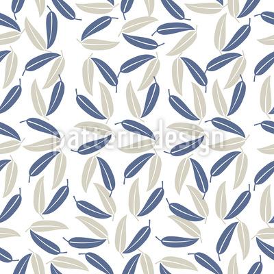Folhas Havaianas Design de padrão vetorial sem costura