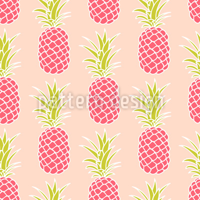 Pineapple Sunset Seamless Vector Pattern Design
