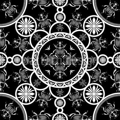 Skarabäus Musterdesign Nahtloses Vektormuster