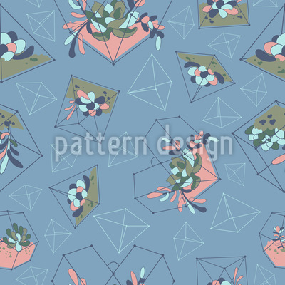 Succulent Geometry Pattern Design